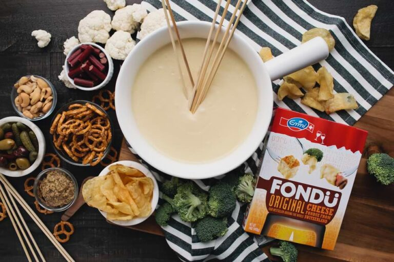 The Best Game Day Cheese Fondue Dippers